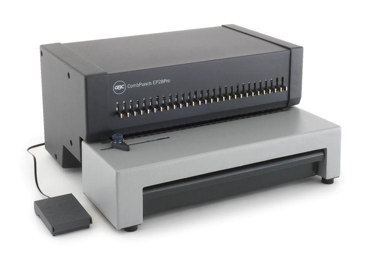 Perforateur GBC COMBPUNCH EP28PRO Machine à relier destinée à une utilisation intensive dans un environnement de production Très grande capacité de perforation Ce perforelieur est à associer au relieur HB28