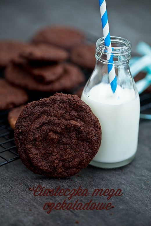 Razowe ciastka mega czekoladowe