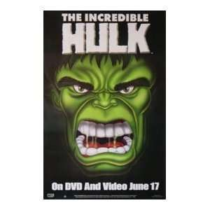 The Incredible Hulk Movie Poster 27X40 Used
