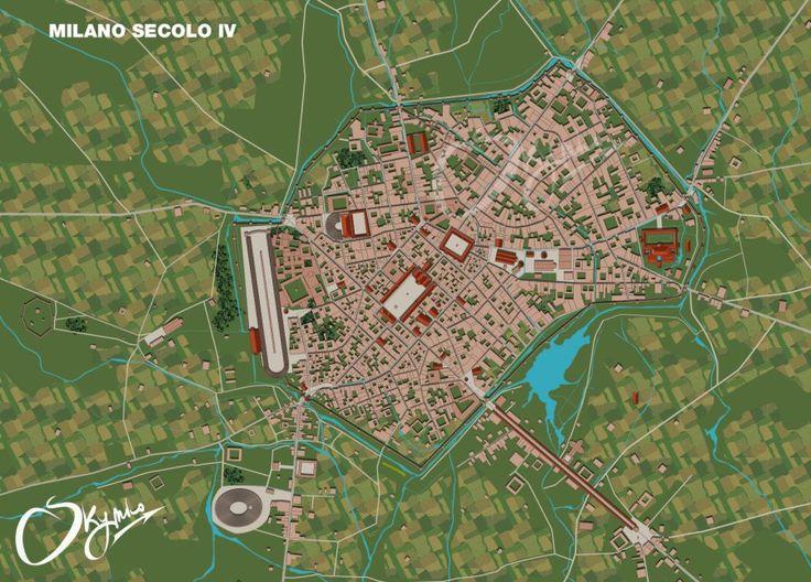 ricostruzione Milano romana