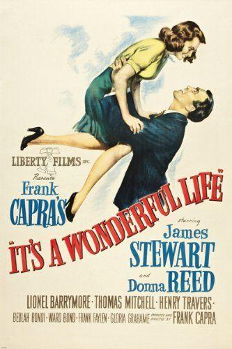 Amazon.com - CLASSIC it's a WONDERFUL LIFE movie poster JIMMY STEWART DONNA REED 24X36