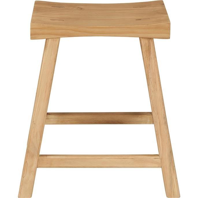 Haal de natuur in huis met deze stijlvolle houten kruk Siena. Afmeting: 40x32x44 cm.
