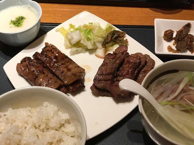 牛タンとテールスープ #肉#牛#スープ#トロロ#gourmet#グルメ#朝食#meat#beef#soup#ご飯