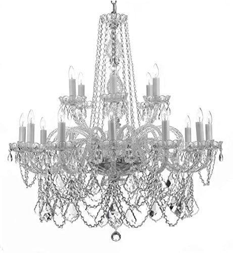 Swarovski Crystal Trimmed Chandelier Lighting H42 W37 F46 3