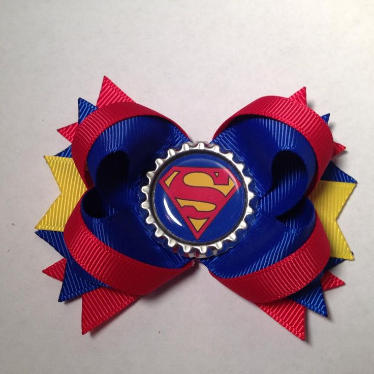 Superman Hair Bow