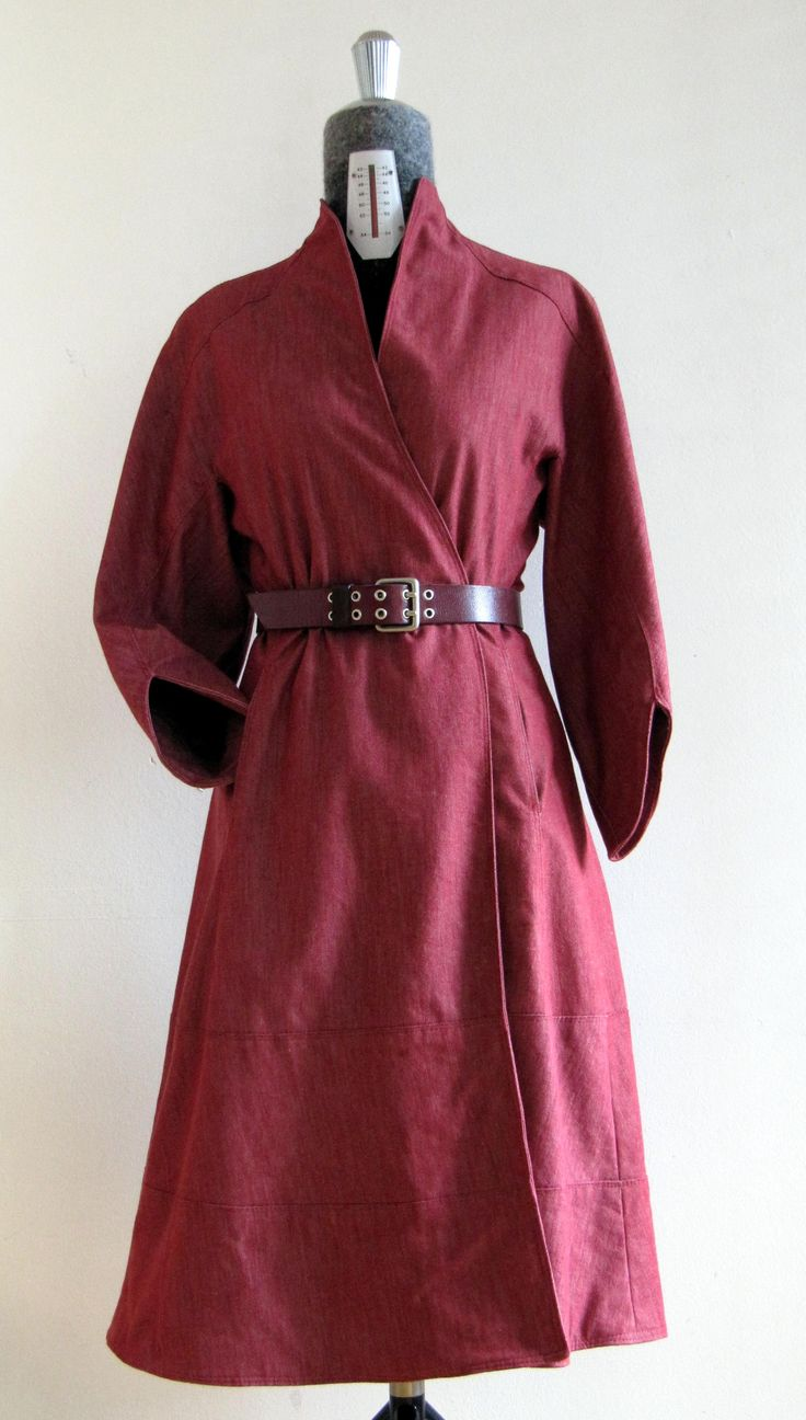 My version of Ralph Rucci Vogue pattern V1239 with purchased belt