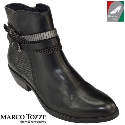 Marco Tozzi női bőr  2-25038-27 096 fekete kombi