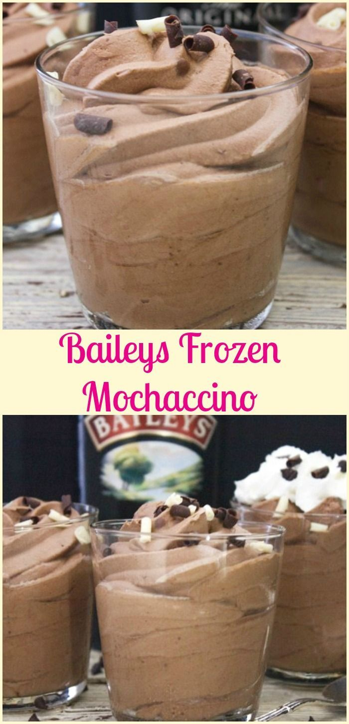 Baileys Frozen Mochaccino a delicious creamy frozen dessert you will ever taste. A must try. The perfect no-bake better than ice cream treat.