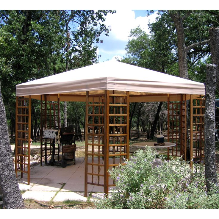 Sams Club All Wood Hexagon Gazebo Replacement Canopy Sam S