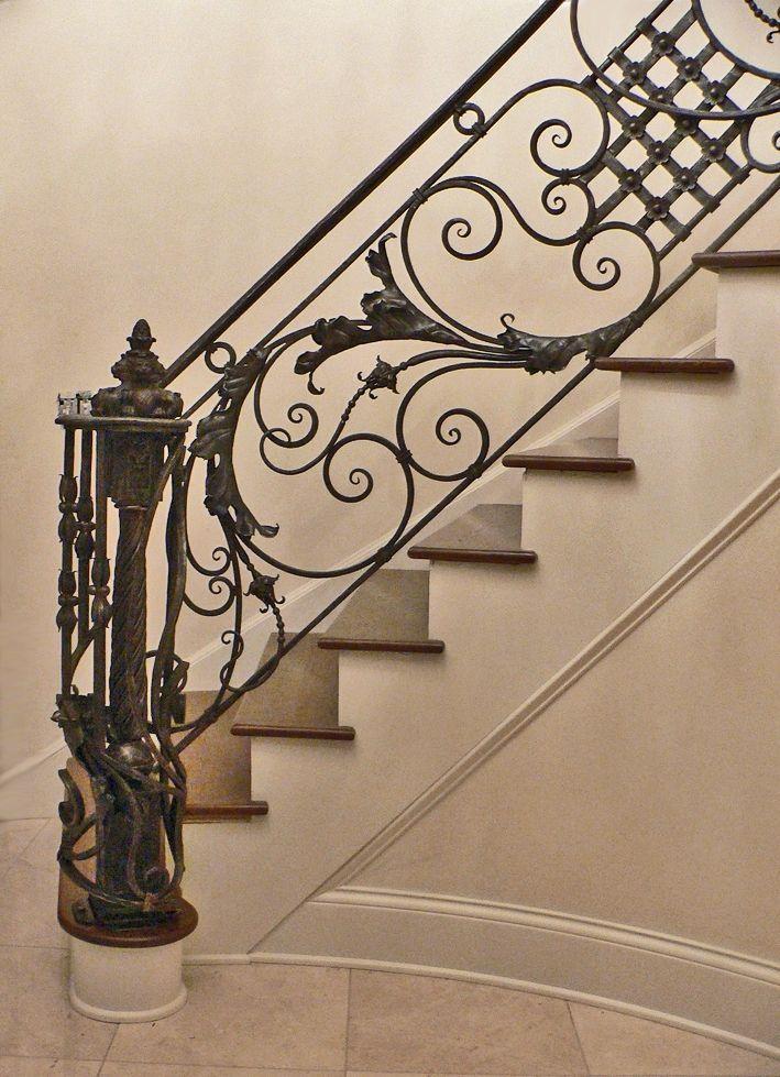 Custom Made Italianate Railing Stairs Wrought Iron