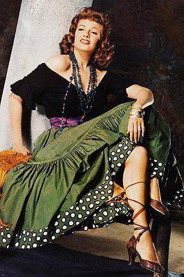 RITA HAYWORTH THE LOVES OF CARMEN movie poster colorful FESTIVE 24X36