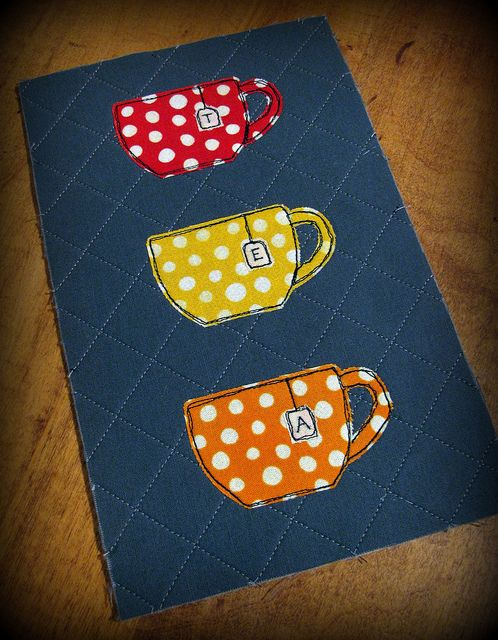 This would be a cute design to make a small box out of, to keep tea bags in