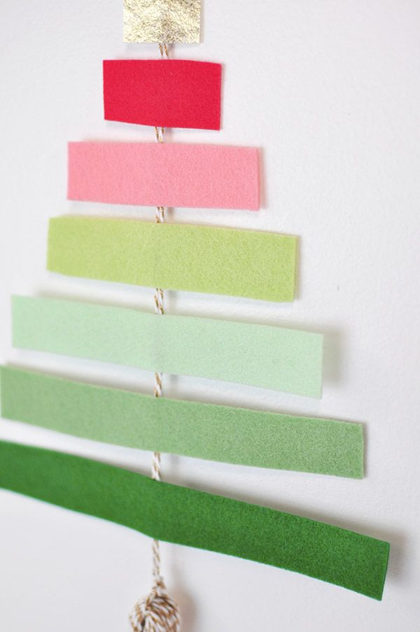 DIY Felt Tree Wall Hanging - Delineate Your Dwelling