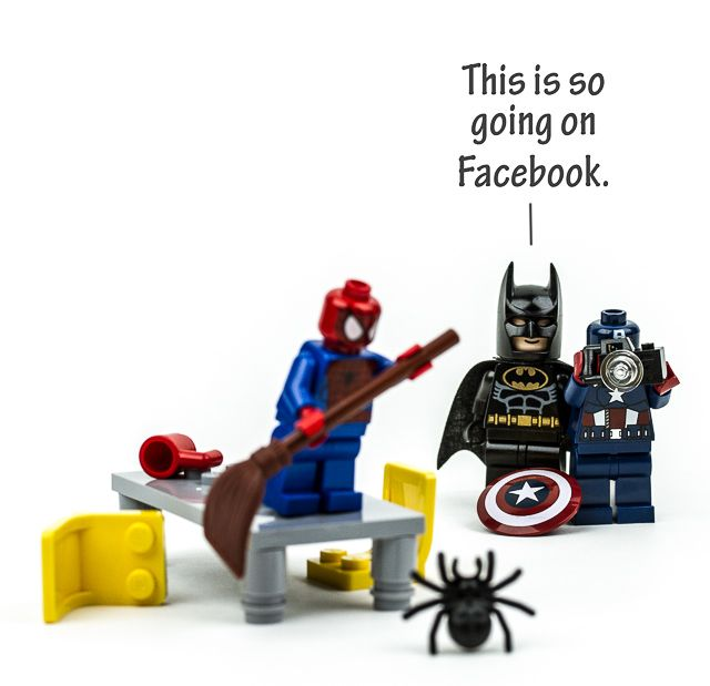 It's ok Spider-Man, I'm afraid of them too. (But don't worry, Batman is afraid of bats)