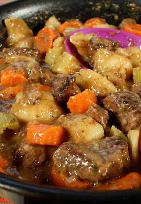 Beef Stew. Old fashioned beef stew with fork-tender meat, full of flavor.