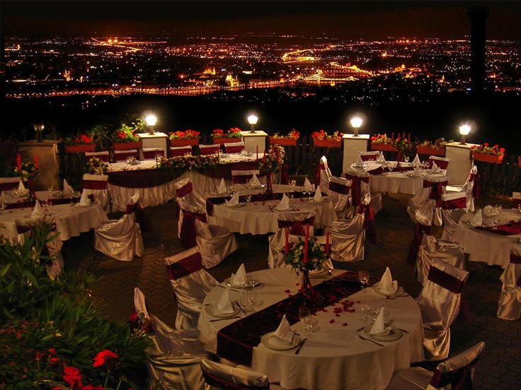 Located in the Buda hills overlooking Budapest, this venue offers a breathtaking view of the city from its terrace.