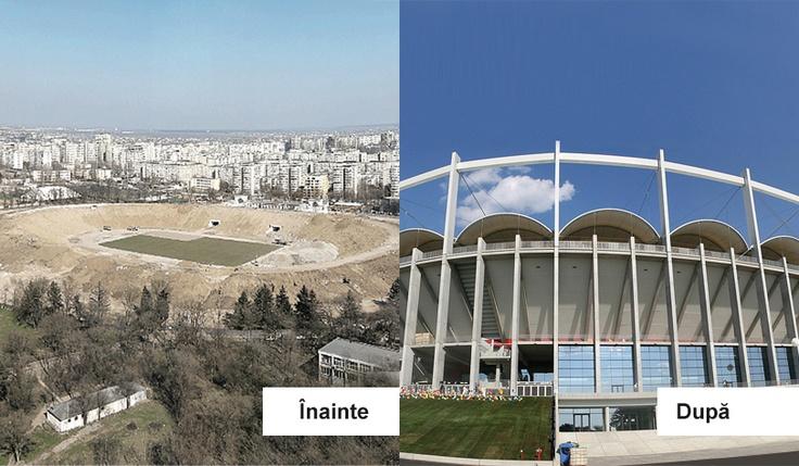 Arena Nationala inainte si dupa
