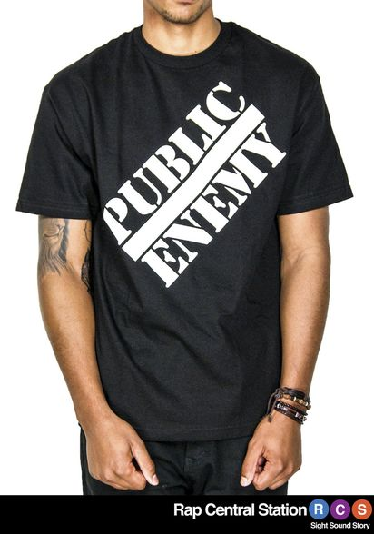 This classic black target t-shirt features the iconic Public Enemy logo on the front and target logo on the back. Chuck D designed both logos back in the early 80's and this is one of the first shirts it was featured on. So, grab yourself one of these shirts and wear the original Public Enemy classic target t-shirt.