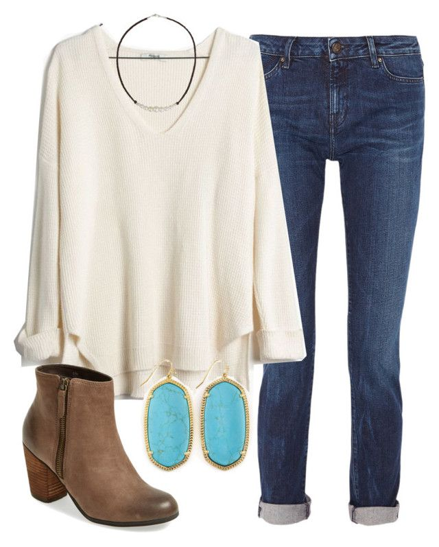 """""""OOTD"""" by prep-lover1 ❤ liked on Polyvore featuring Karl Lagerfeld, Madewell, Kendra Scott, NOVICA and BP."""