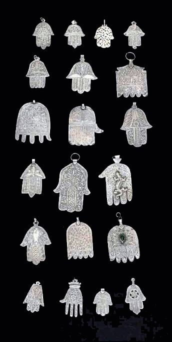 Morocco | Collection of 20 Khamsas (Hand of Fatima) | Silver