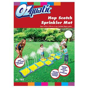 Just a hop, skip and jump to cool off while having fun! Easy to set up the Ozquatic Hopscotch Sprinkler Mat connects to your garden hose. Hopscotch...