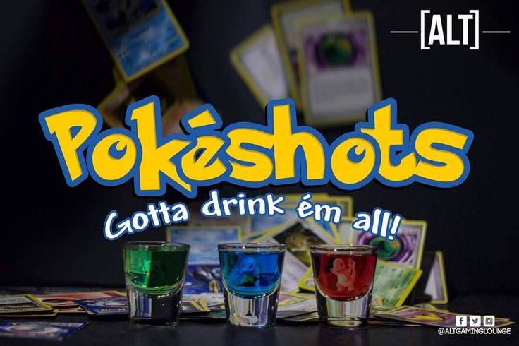 NEW: Pokéshots: Gotta drink ém all!  #altgaminglounge #nottingham #eatdrinkplay #eastmidlands #retrogaming #videogames #eastmidlands #derby #notts #twitchtv #retro #shots #gaminglounge #gamingbar #neon #cosplay #cocktailbar #cocktails #drinks #nintendo #nintendoswitch #pokemon #pokémon #squirtle #bulbasaur #charmander