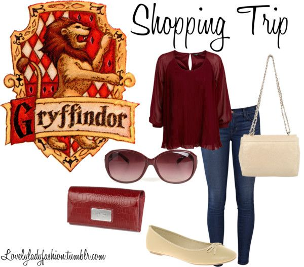 """""""Gryffindor Shopping Trip"""" by nearlysamantha on Polyvore"""