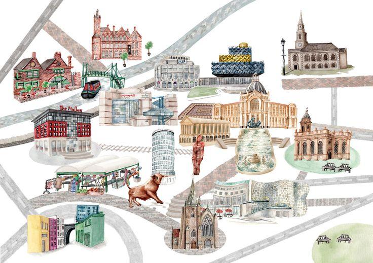 Illustrated Maps - Laura Hallett Art and Illustration