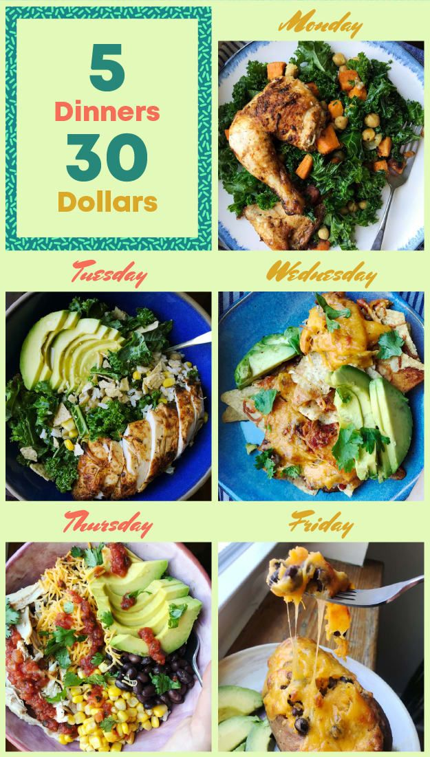 How I Grocery Shop And Make 5 Dinners For 30 Easy Meals