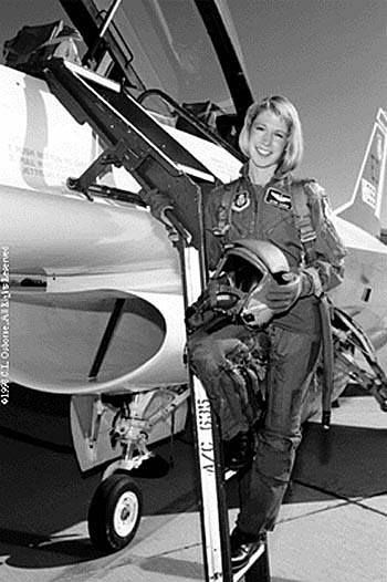 Captain Jacqueline S. Parker became the first female US Air Force pilot to graduate from the US Air Force Test Pilot School, 1989