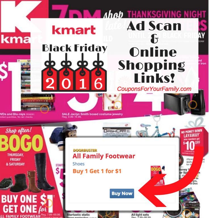 Kmart Black Friday Ad 2016 Released! See Full Ad, Online shopping links & Shopping List! - http://www.couponsforyourfamily.com/kmart-black-friday-ad/