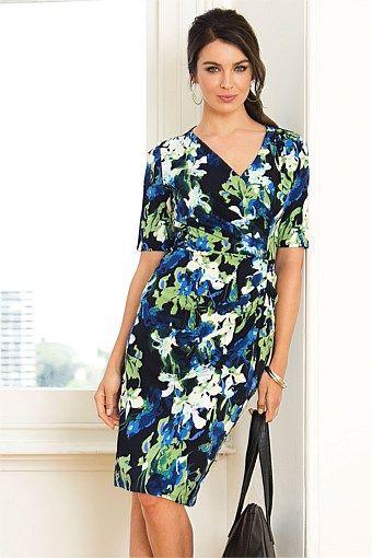 Women's Dresses - Capture Drape Dress - EziBuy Australia