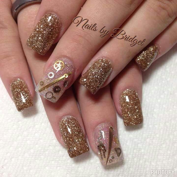 Steampunk nails ... cute