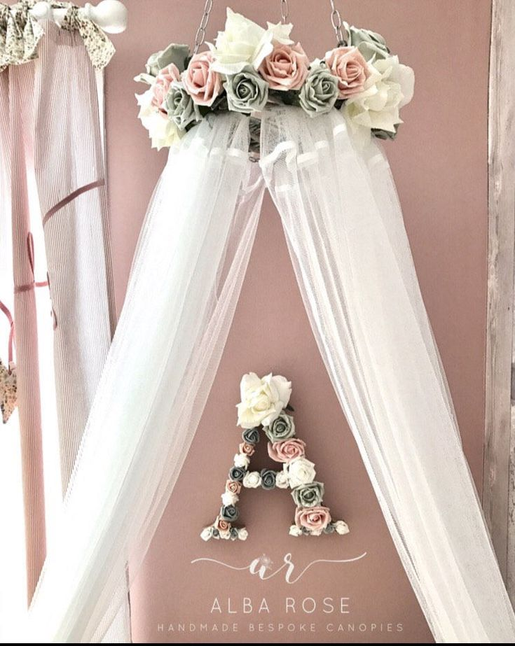 Excited to share the latest addition to my #etsy shop: Canopy and matching Initi…  – Παιδικό