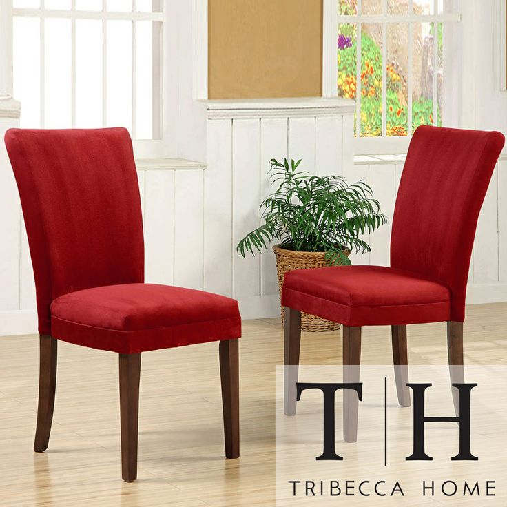 Tribecca Home Parson Cranberry Red Dining Chairs (Set | Overstock.com Shopping - Great Deals on Tribecca Home Dining Chairs