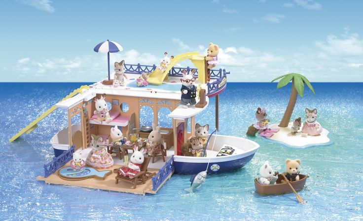 Sylvanian Families - Seaside Cruiser Boat House#EntropyWishList #PinToWin  Sooo cute