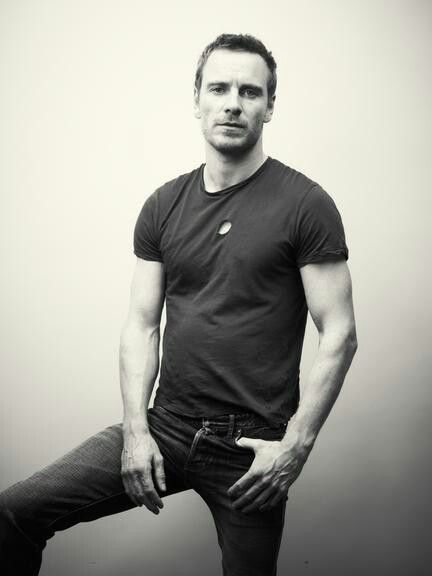michael fassbender, celebrity, man, artist, actor, black and white