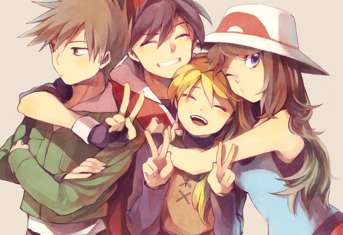 Pokemon Special - Red, Yellow, Green, Blue May be double pinning, but I don't care because I love these four so much.
