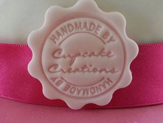 Fondant Sugarpaste Company Name Stamp For Cupcake Business
