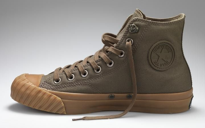 45ac34552b521 A pair of Converse Chuck Taylors based on the Converse made for U.S. basic  training during WWII.
