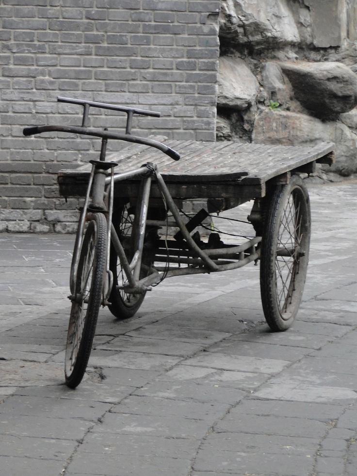 Tricycle dans un Hutong - Beijing - Chine
