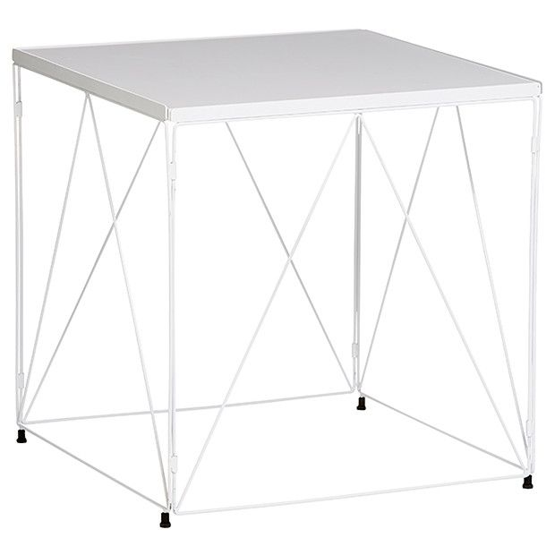 Oscar Wire Side Table - White