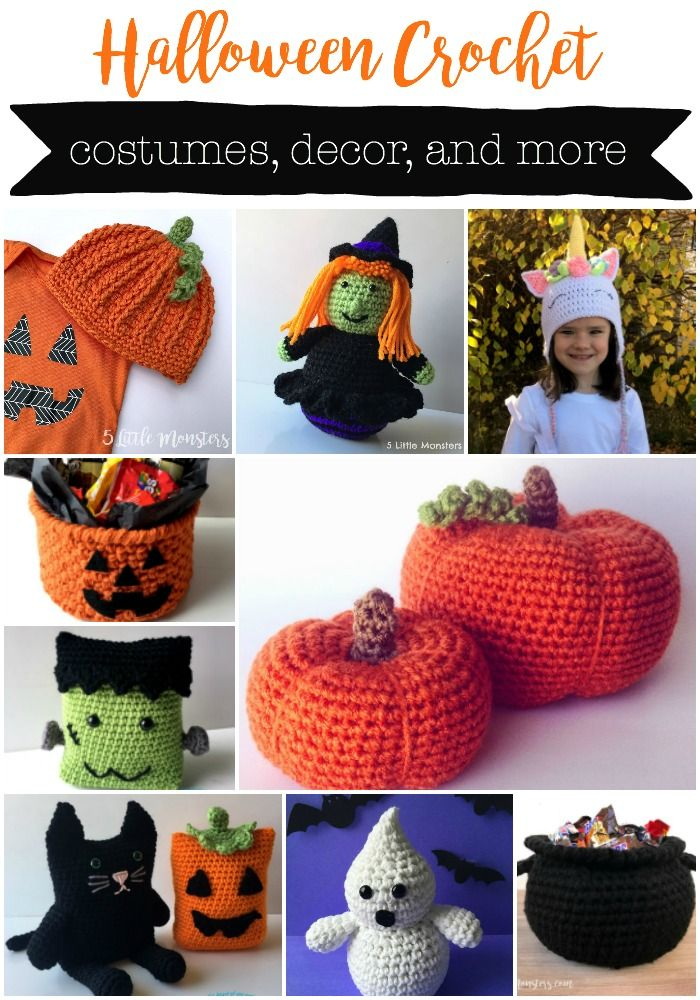 16 Halloween Crochet Projects: Costumes, Decor, and More   5 Little ...