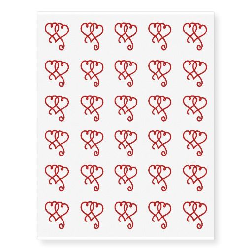 NEW!  Just in time for Valentine's Day - Temporary Tattoos!  Like these Linked Swirly Hearts!