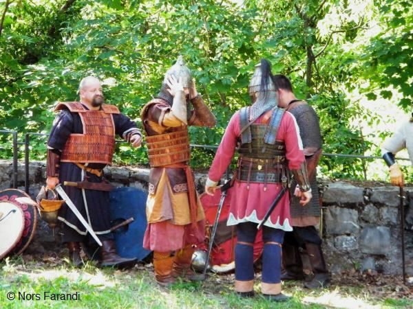 Langobarden und Gepiden Krieger
