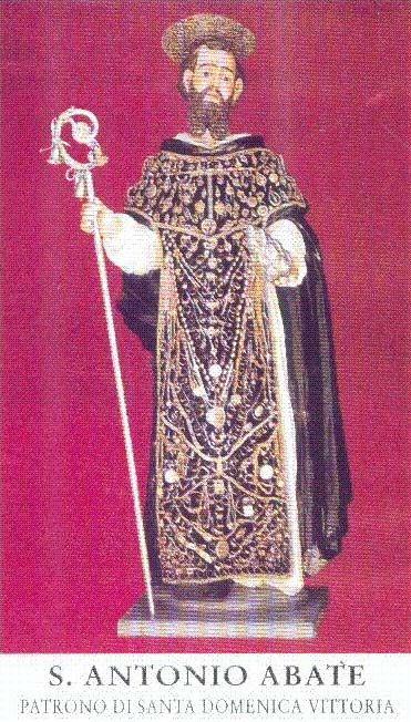 imagen de san antonio venerada en la iglesia de santa domenica vittoria, sicilia