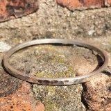 Armband silver bracelet hammered