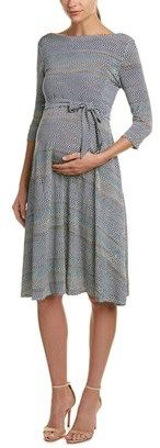 $41.99 | LEOTA Leota Maternity A-line Dress | maternity fashion | maternity clothes | maternity dress | grey maternity dress | pregnancy fashion | pregnancy dress | #ad