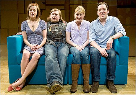 Keira Naughton, Michael Chernus, Mamie Gummer and Jeremy Shamos in Hunting and Gathering.