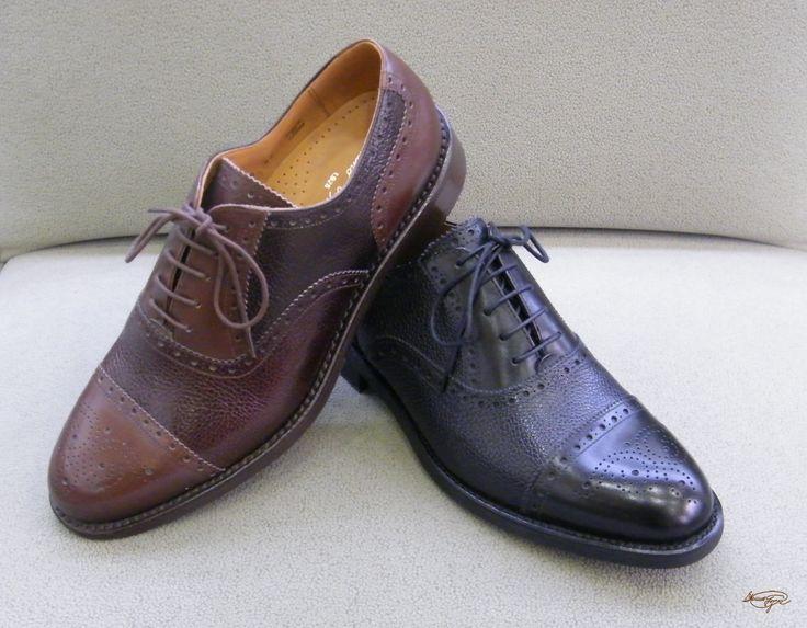 Modello Porto - 40 EU - Cuero Italiano Hecho A Mano Hombre Piel Marrón Zapatos Vestir Oxfords - Cuero Cuero Pintado a Mano - Encaje 1bLtGDYkh